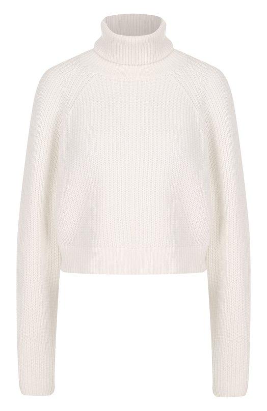 Укороченный кашемировый свитер с высоким воротником Michael Kors Collection