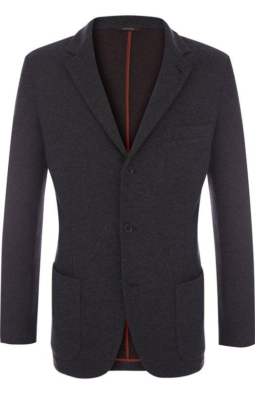 Купить Однобортный кашемировый пиджак Loro Piana, FAG3430, Италия, Темно-синий, Кашемир: 100%;