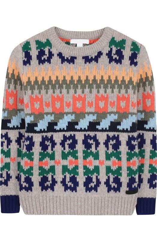 Пуловер из шерсти и кашемира с принтом Burberry