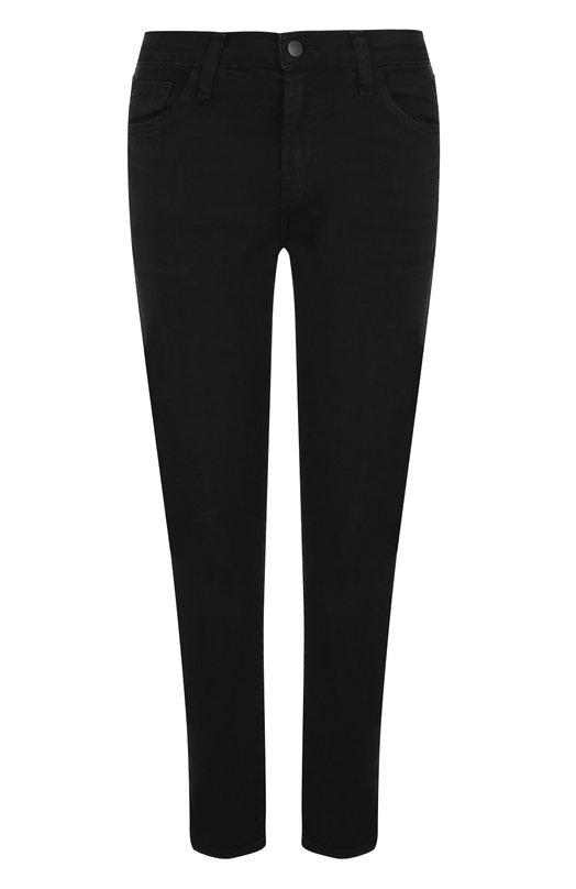 Купить Укороченные джинсы прямого кроя с потертостями J Brand, JB000488/A, США, Черный, Хлопок: 98%; Полиуретан: 2%;