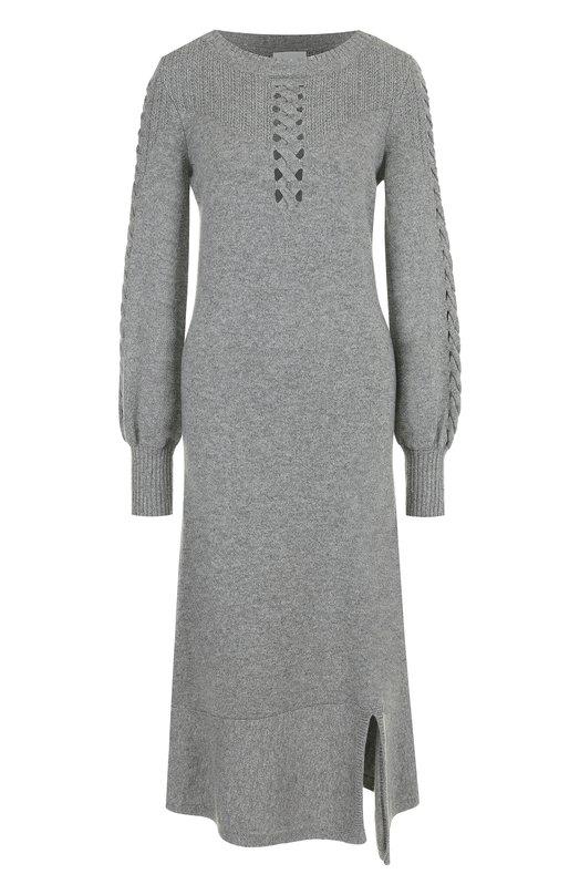 Купить Приталенное кашемировое платье-миди Barrie, W17C73439, Великобритания, Серый, Кашемир: 100%;