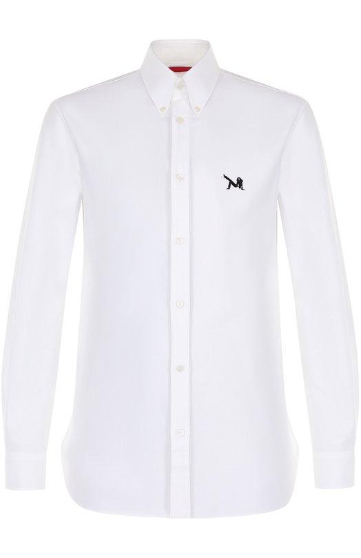 Купить Хлопковая рубашка с воротником button down CALVIN KLEIN 205W39NYC, 74MWTA18/C061, Италия, Белый, Хлопок: 100%;