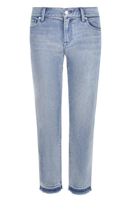 Укороченные джинсы прямого кроя с потертостями Burberry Burberry