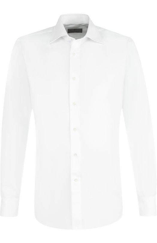 Купить Хлопковая сорочка с воротником кент Canali, 705/Q60135, Италия, Белый, Хлопок: 100%;