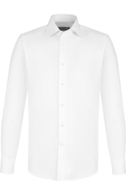 Купить Хлопковая сорочка с воротником кент Canali, X60/Q60135, Италия, Белый, Хлопок: 100%;