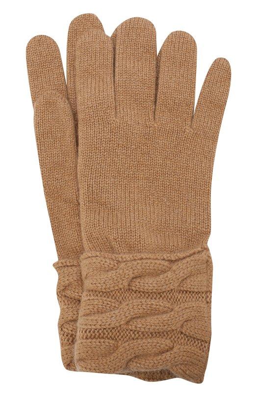 Купить Вязаные перчатки из кашемира Kashja` Cashmere, 382-12, Италия, Темно-бежевый, Кашемир: 100%;