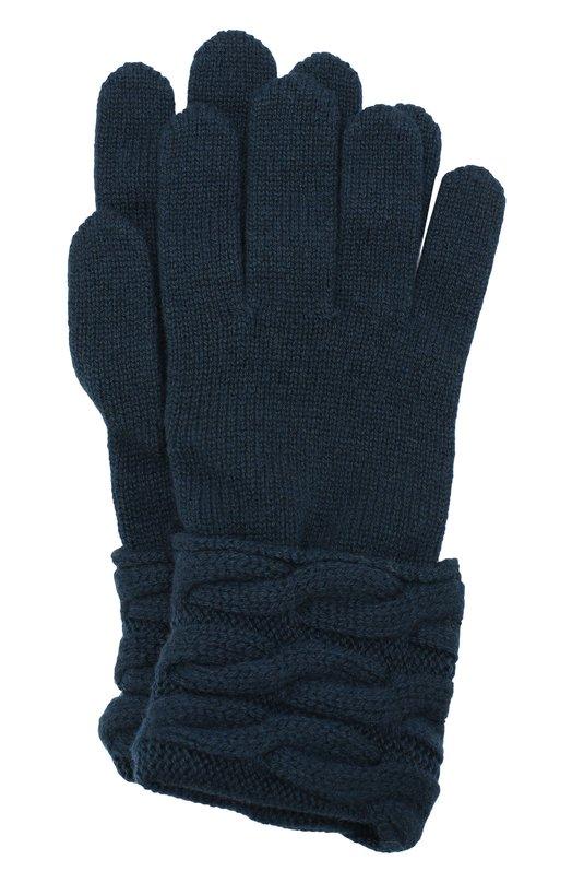 Купить Вязаные перчатки из кашемира Kashja` Cashmere, 382-12, Италия, Темно-зеленый, Кашемир: 100%;