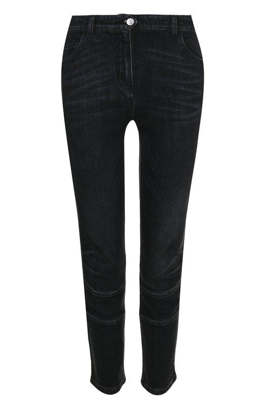 Купить Укороченные джинсы с потертостями Belstaff, 72100287/D64A0046, Румыния, Черный, Хлопок: 98%; Эластан: 2%;