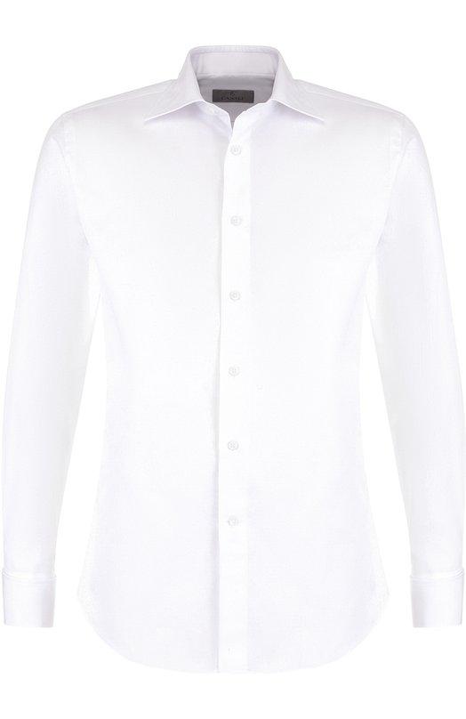 Купить Хлопковая сорочка с воротником кент Canali, 705/Q60135/PG, Италия, Белый, Хлопок: 100%;