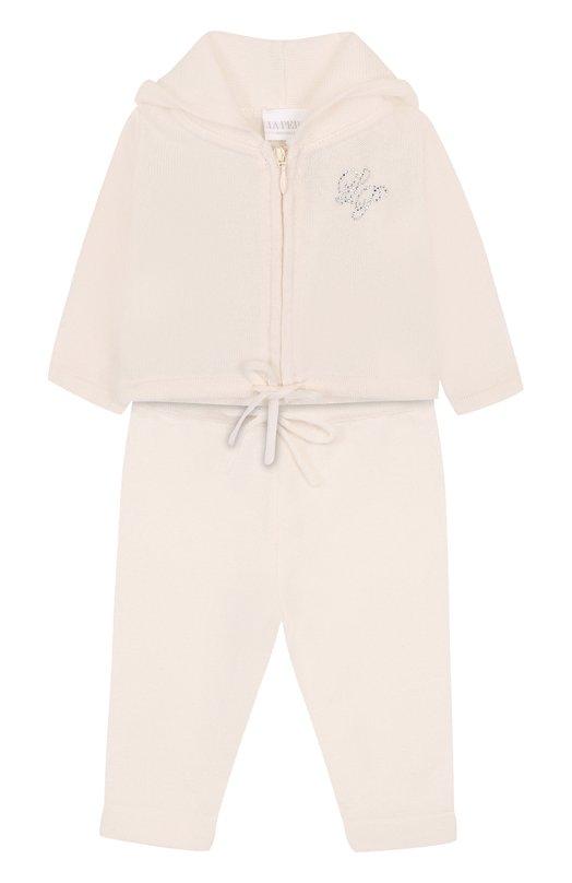 Купить Кашемировый костюм La Perla, 59177/1M-12M, Италия, Кремовый, Кашемир: 100%;