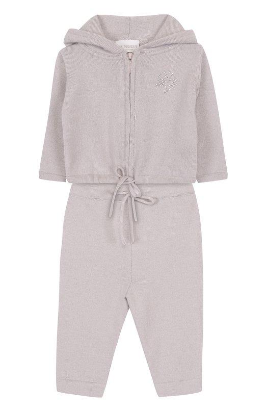 Купить Кашемировый костюм La Perla, 59177/1M-12M, Италия, Светло-серый, Кашемир: 100%;