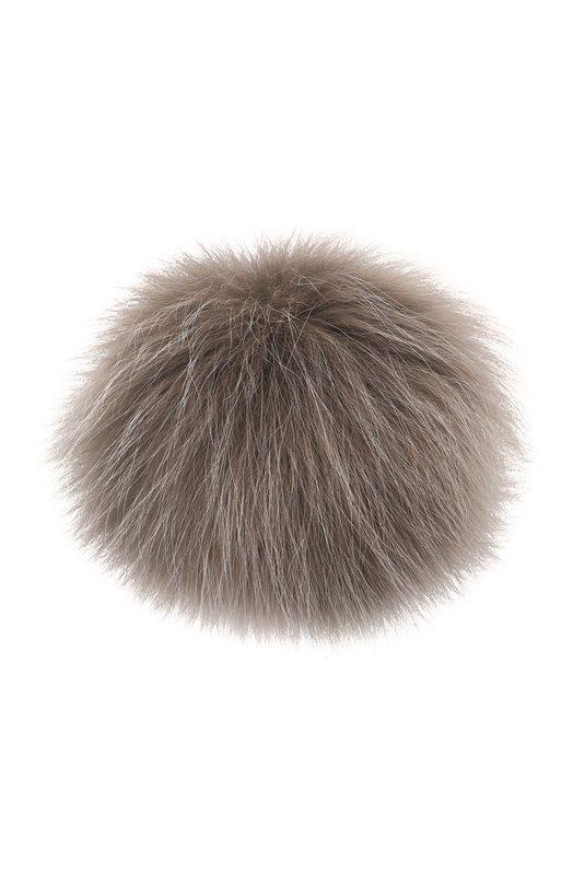 Купить Помпон из меха лисы Loro Piana, FAG5547, Италия, Серый, Мех/лиса/: 100%;