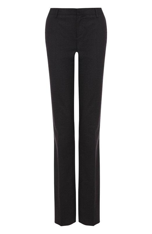 Купить Расклешенные шерстяные брюки со стрелками Tom Ford, PA113C/T11125, Италия, Темно-серый, Шерсть: 98%; Лиоселл: 2%;