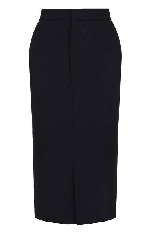 Купить Однотонная юбка-карандаш Joseph, JP000166, Польша, Темно-синий, Вискоза: 51%; Ацетат: 46%; Эластан: 3%; Подкладка-вискоза: 100%;