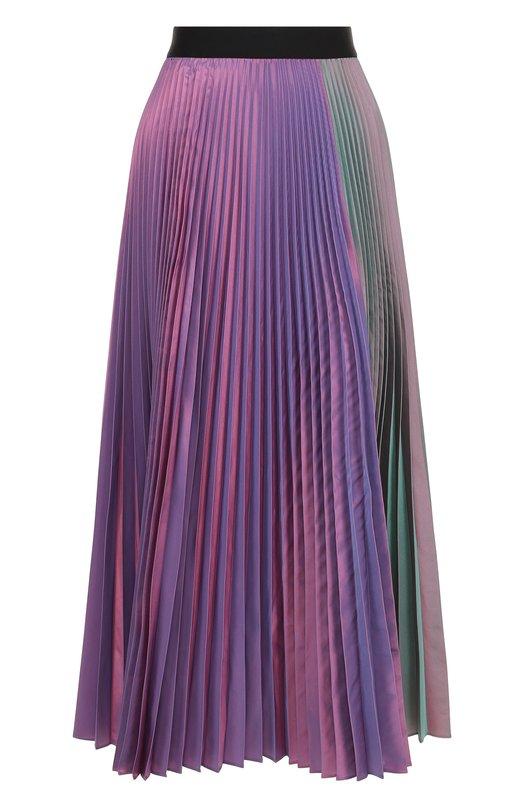 Купить Плиссированная юбка-миди с контрастным поясом Christopher Kane, 493361/UES15, Румыния, Разноцветный, Подкладка-ацетат: 74%; Полиэстер: 50%; Шелк: 50%; Подкладка-шелк: 26%;