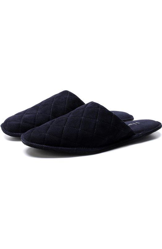 Купить Домашние замшевые туфли Homers At Home, 15968/ANTE, Испания, Темно-синий, Стелька-кожа: 100%; Подошва-кожа: 100%; Подошва-резина: 100%; Замша натуральная: 100%; Стелька-замша: 100%;