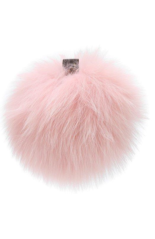 Купить Помпон из меха лисы Loro Piana, FAG5547, Италия, Светло-розовый, Мех/лиса/: 100%;