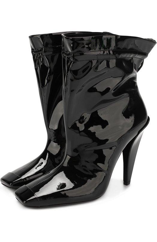Купить Лаковые ботильоны Coulisse на устойчивом каблуке Tom Ford, W2163L-PAB, Италия, Черный, Кожа натуральная: 100%; Стелька-кожа: 100%; Подошва-кожа: 100%;