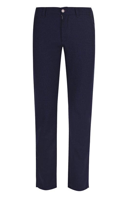Купить Шерстяные брюки прямого кроя Canali, 91509W/PW00325, Италия, Темно-синий, Шерсть: 100%;