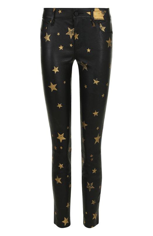 Купить Кожаные брюки-скинни с принтом в виде звезд RTA, WF7LE-131GDSTR, Китай, Черный, Кожа натуральная: 100%;