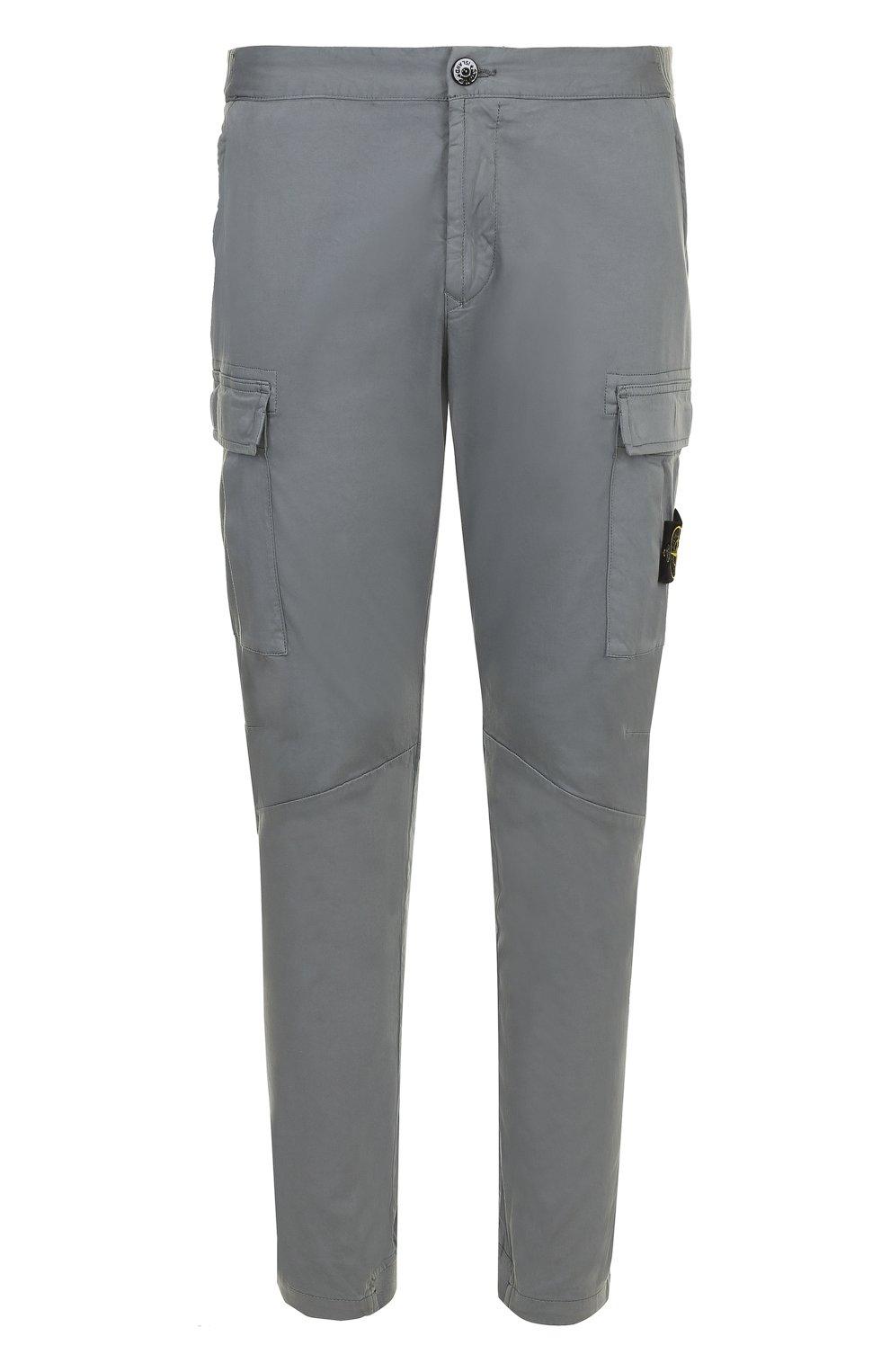 Хлопковые брюки с резинкой на поясе