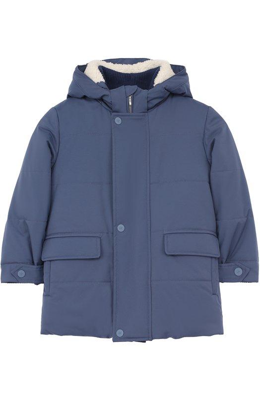 Купить Утепленная куртка с капюшоном Loro Piana, FAF8650, Италия, Голубой, Подкладка-шерсть: 67%; Подкладка-полиамид: 4%; Подкладка-кашемир: 29%; Полиамид: 100%;