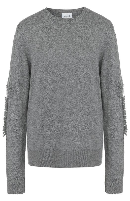 Купить Кашемировый пуловер с круглым вырезом Barrie, A00C15309, Великобритания, Серый, Кашемир: 100%;