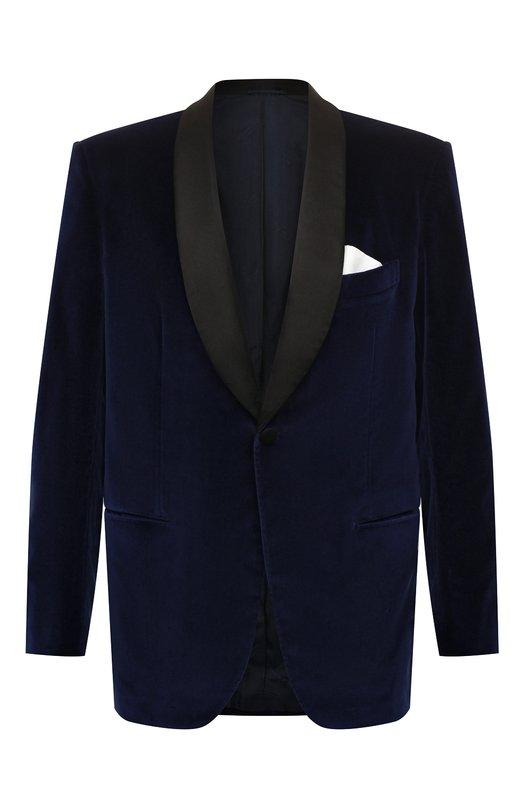 Вечерний хлопковый пиджак с шалевыми лацканами Kiton