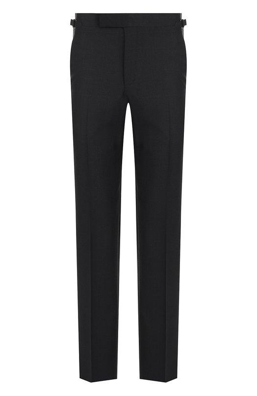 Шерстяные брюки прямого кроя Tom Ford, 222R91/610041, Швейцария, Темно-синий, Шерсть: 100%;  - купить