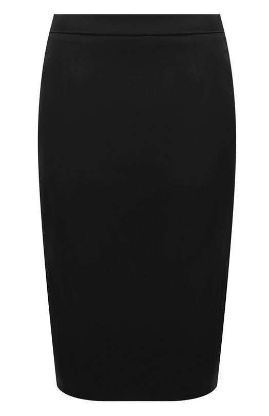 Купить Однотонная юбка-миди с разрезом Escada, 5025494, Румыния, Черный, Подкладка-купра: 94%; Полиэстер: 67%; Подкладка-эластан: 6%; Эластан: 4%; Полиамид: 29%;