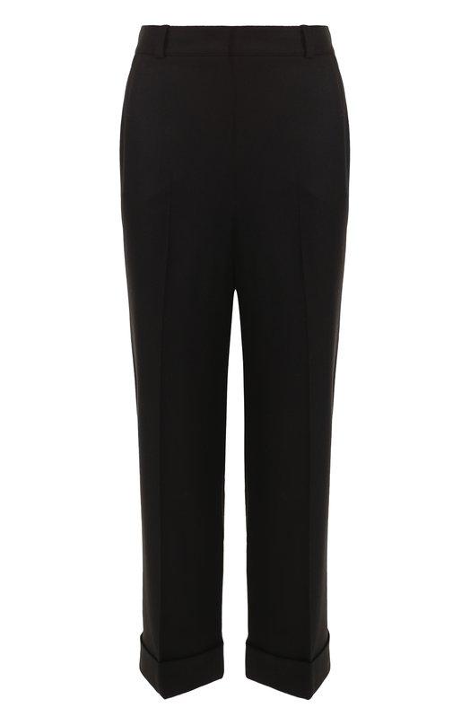 Укороченные брюки из смеси кашемира и шелка Loro Piana, FAG4360, Италия, Черный, Кашемир: 93%; Шелк: 5%; Эластан: 2%;  - купить