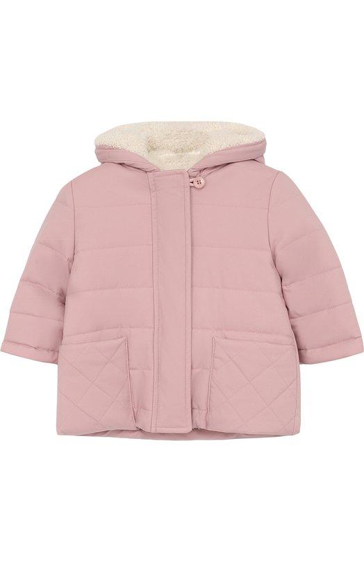 Купить Утепленная куртка с капюшоном Loro Piana, FAG3867, Италия, Розовый, Подкладка-кашемир: 9%; Подкладка-шерсть: 75%; Подкладка-полиамид: 16%; Полиамид: 100%;