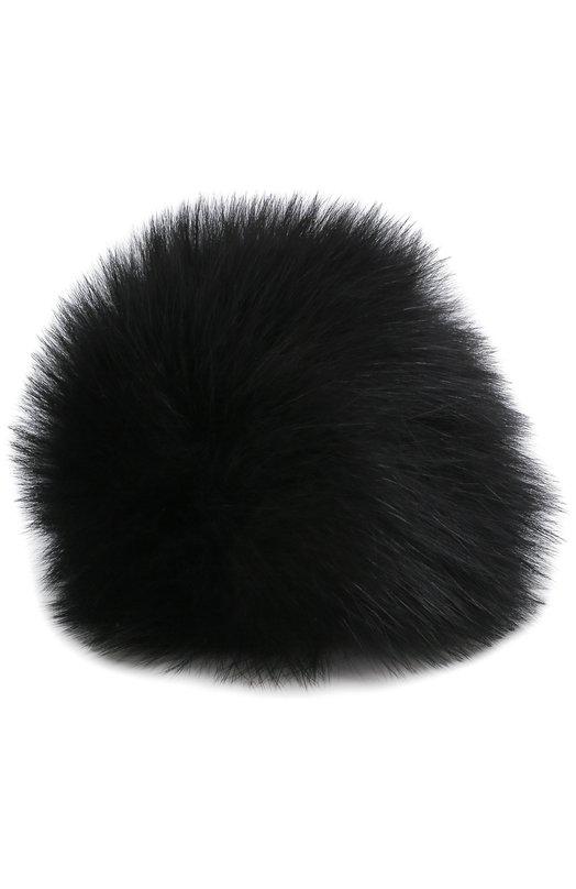 Купить Помпон из меха лисы Loro Piana, FAG5547, Италия, Черный, Мех/лиса/: 100%;