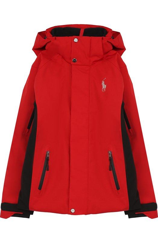 Купить Куртка с контрастной отделкой и капюшоном Polo Ralph Lauren, 323672453, Вьетнам, Красный, Полиэстер: 100%; Подкладка-полиэстер: 100%;