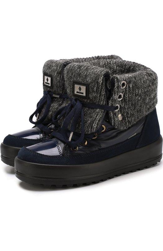 Купить Комбинированные утепленные ботинки на шнуровке Jog Dog Италия 5220189 30207R/SUEDEZAFFW00LBALTIC0/36-42