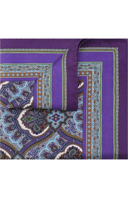 Купить Шелковый платок с узором Eton, A000 30110, Италия, Фиолетовый, Шелк: 100%;