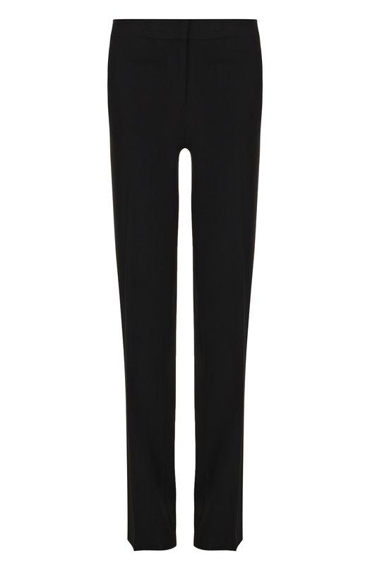 Купить Однотонные расклешенные брюки со стрелками MICHAEL Michael Kors, MH73GTX6BZ, Китай, Черный, Полиэстер: 100%;