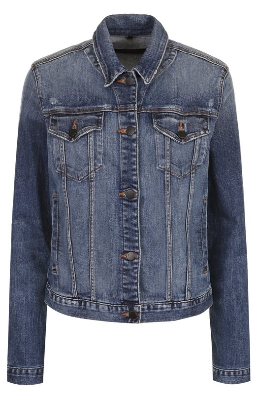 Купить Джинсовая куртка прямого кроя с потертостями J Brand, JB000786/C, США, Синий, Хлопок: 98%; Полиуретан: 2%;