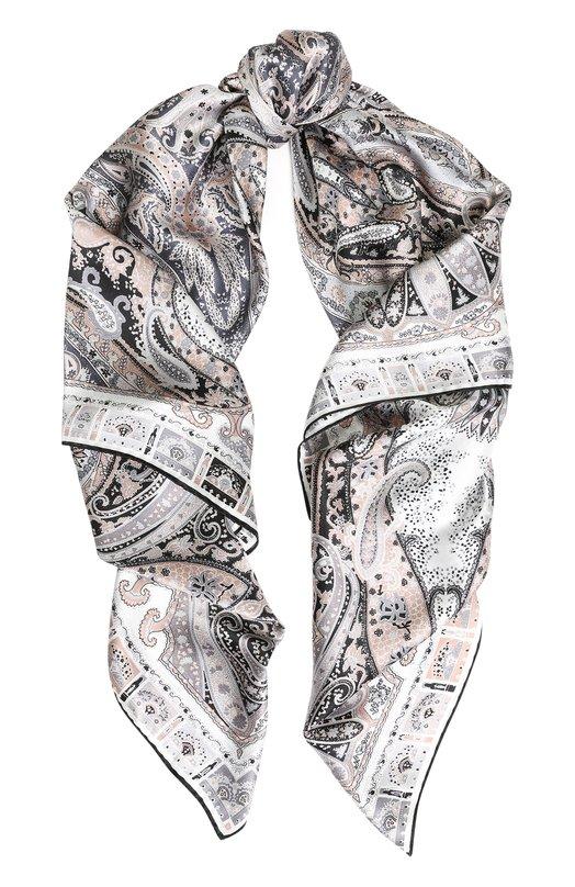 Купить Шелковый платок с принтом Michele Binda, 18028975, Италия, Разноцветный, Шелк: 100%;