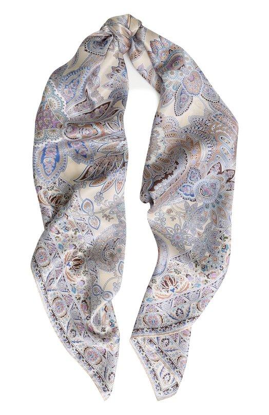 Купить Шелковый платок с принтом Michele Binda, 18033973, Италия, Разноцветный, Шелк: 100%;