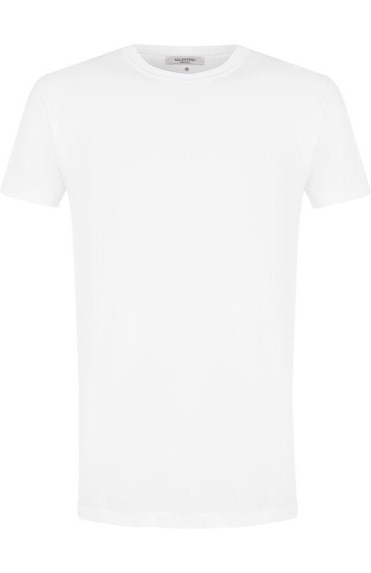 Купить Хлопковая футболка с круглым вырезом Valentino, PV3MG10I/46M, Италия, Белый, Хлопок: 100%;