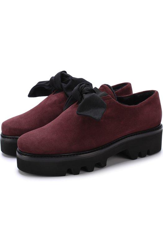 Купить Замшевые ботинки Fabula с внутренней отделкой из овчины Steiger, FABULA/1383E/CAM0SCI0, Италия, Бордовый, Подошва-резина: 100%; Замша натуральная: 100%; Стелька-овчина: 100%;