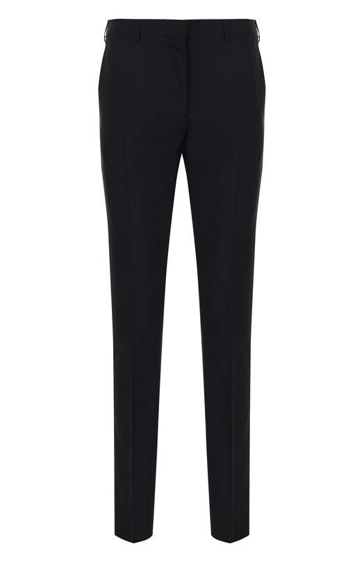 Купить Шерстяные брюки прямого кроя Valentino, PV3RGR20/25S, Италия, Темно-синий, Шерсть: 84%; Мохер: 16%; Подкладка-вискоза: 100%;