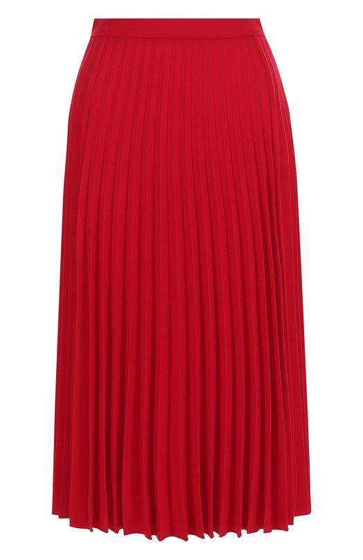 Купить Однотонная плиссированная юбка-миди REDVALENTINO, PR3RA2Q0/2QL, Венгрия, Красный, Ацетат: 65%; Полиэстер: 35%;