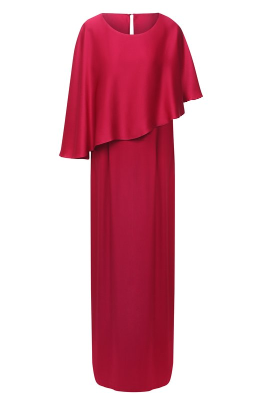 Однотонное платье-макси с кейпом St. John St. John