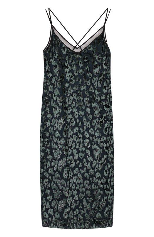 Платье-миди прямого кроя с V-образным вырезом BOSS