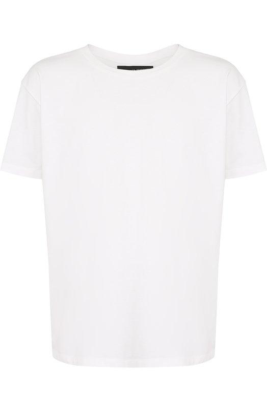 Купить Хлопковая футболка с круглым вырезом Alexander Terekhov, MENTSH001P/5007.100/DW18, Россия, Белый, Хлопок: 100%;