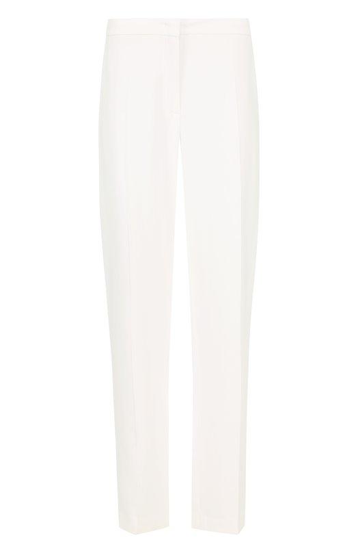 Купить Укороченные брюки прямого кроя со стрелками Escada, 5025294, Румыния, Белый, Вискоза: 70%; Эластан: 4%; Ацетат: 26%;