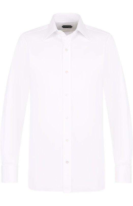 Купить Хлопковая сорочка с воротником кент Tom Ford, 3FT690/94C1JE, Италия, Белый, Хлопок: 100%;