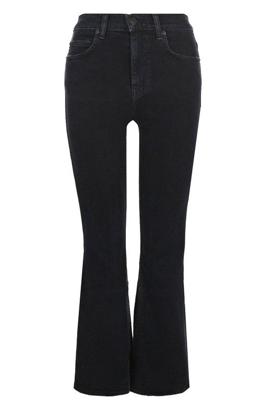 Купить Укороченные расклешенные джинсы с потертостями Proenza Schouler, WL181997-DC009, США, Черный, Хлопок: 98%; Полиуретан: 2%;